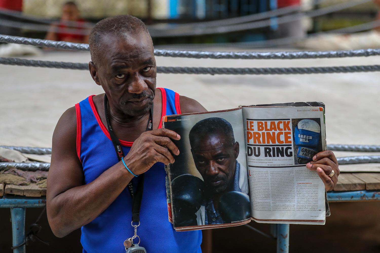 Coach Nardo Mestre Flores at the Rafael Trejo Boxing Gym in Havana Cuba - Cuba Photography