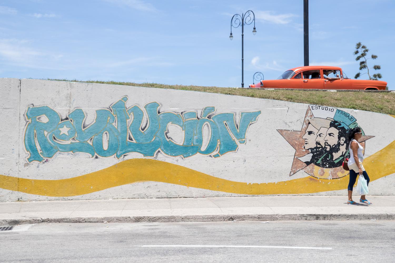Revolution mural in Havana. - Cuba Photography