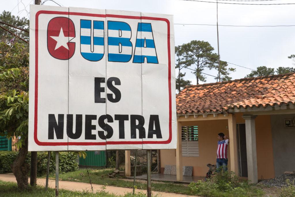 Cuba - Monday, July 31, 2017.  Cuban signs, propaganda, and street art