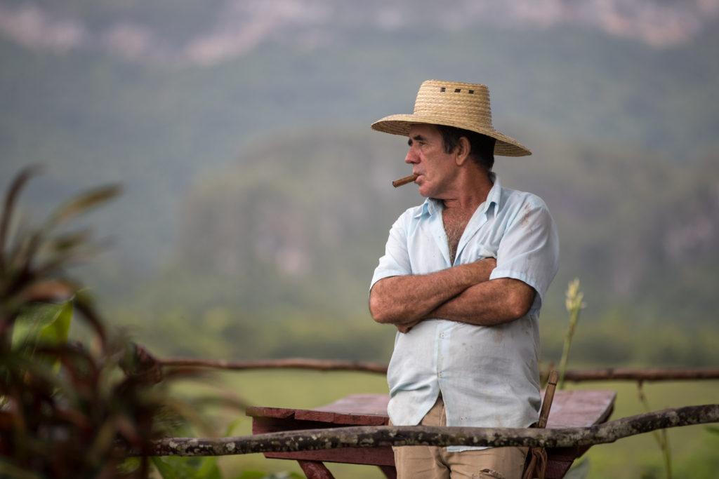 Viñales Valley, Cuba - Monday, July 31, 2017.  Cuban farmer