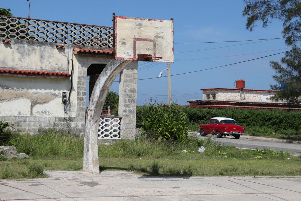 Havana, Cuba - Wednesday, August 2, 2017.  Havana basketball court.