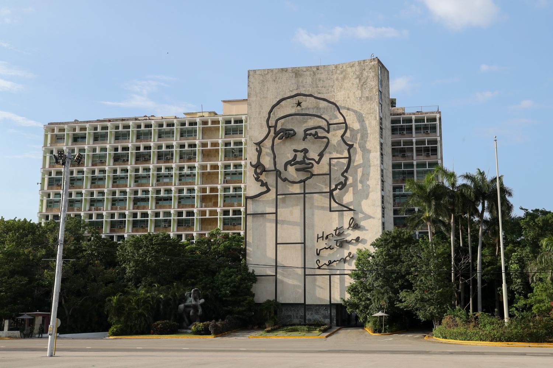 Communist Party building in Plaza de la Revolución. - Cuba Photography