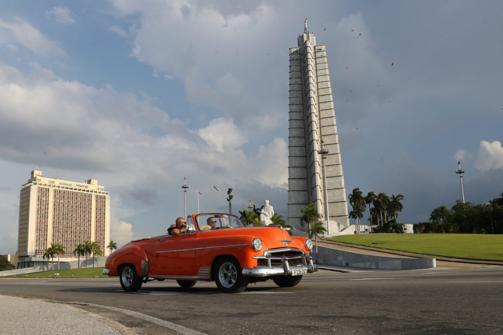 Havana, Cuba - Wednesday, August 2, 2017.  Plaza de la Revolución