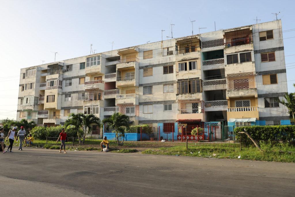 Cuba - Thursday, August 3, 2017.  Cuban apartment building