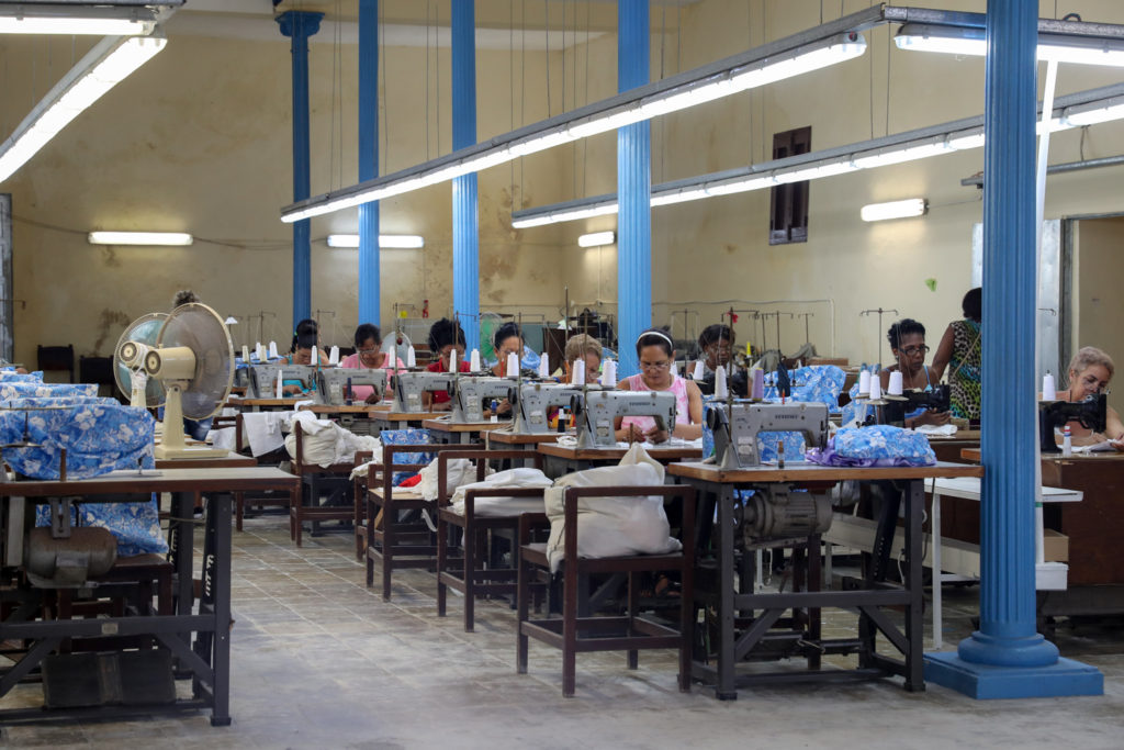 Havana, Cuba - Friday, August 4, 2017.  Havana sewing factory